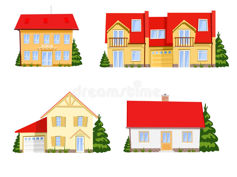 Casas coloridas de la historieta