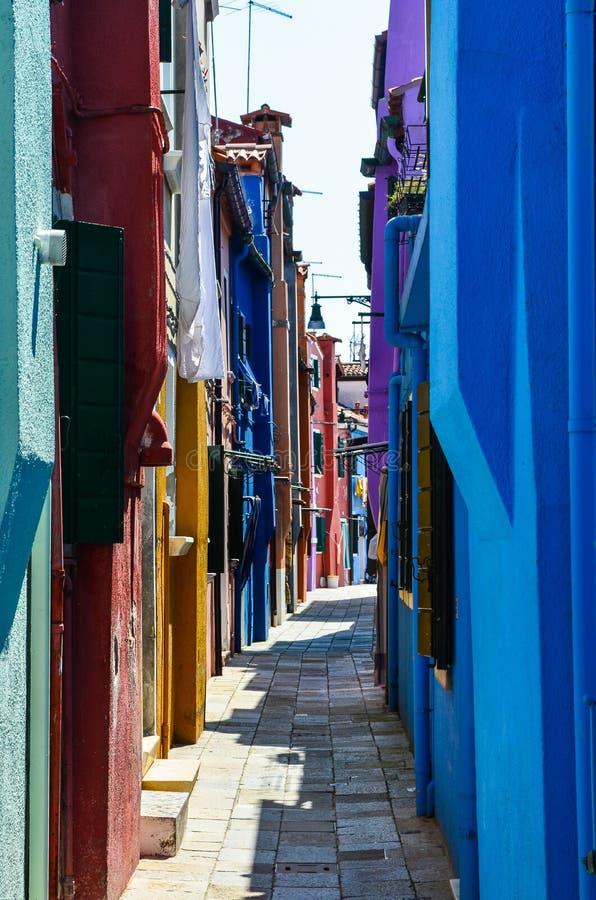 Casas coloridas em Veneza Itália imagem de stock royalty free