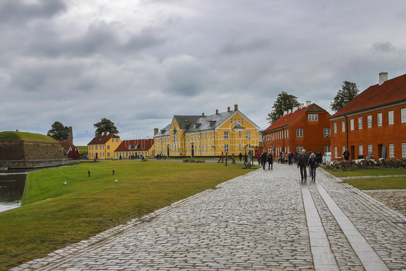 Casas coloridas en Copenhague, Dinamarca imagenes de archivo