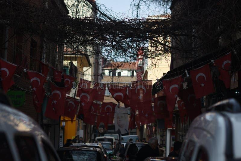 Casas coloridas en la ciudad vieja Balat Estambul, Turquía fotografía de archivo