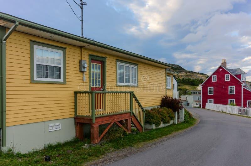 Casas coloridas en la trinidad, Terranova fotografía de archivo