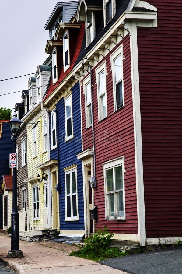 Casas coloridas en San Juan imagen de archivo libre de regalías