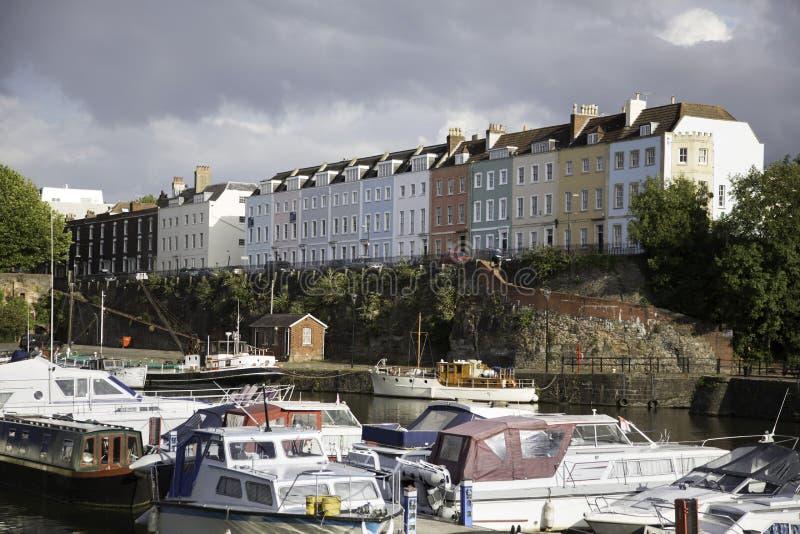 Casas coloridas na cidade de Bristol fotos de stock royalty free