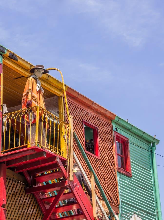 Casas coloridas na rua do caminito do la Boca em Buenos Aires imagens de stock royalty free