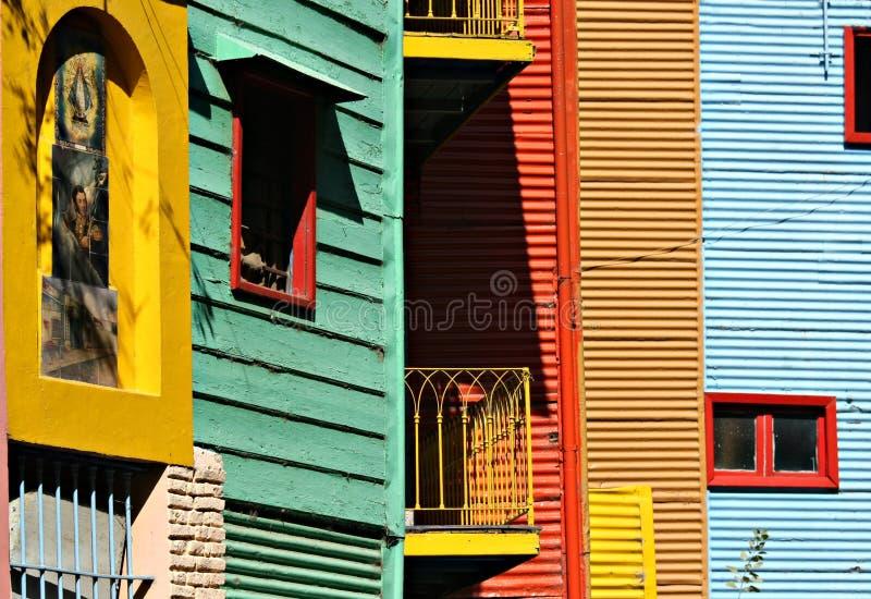 Casas coloridas no La Boca foto de stock royalty free