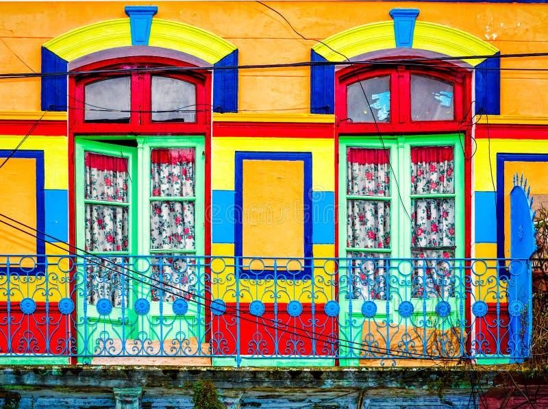 Casas coloridas no La Boca foto de stock