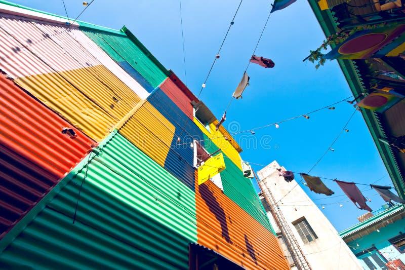 Casas coloridas no La Boca, Buenos Aires fotos de stock
