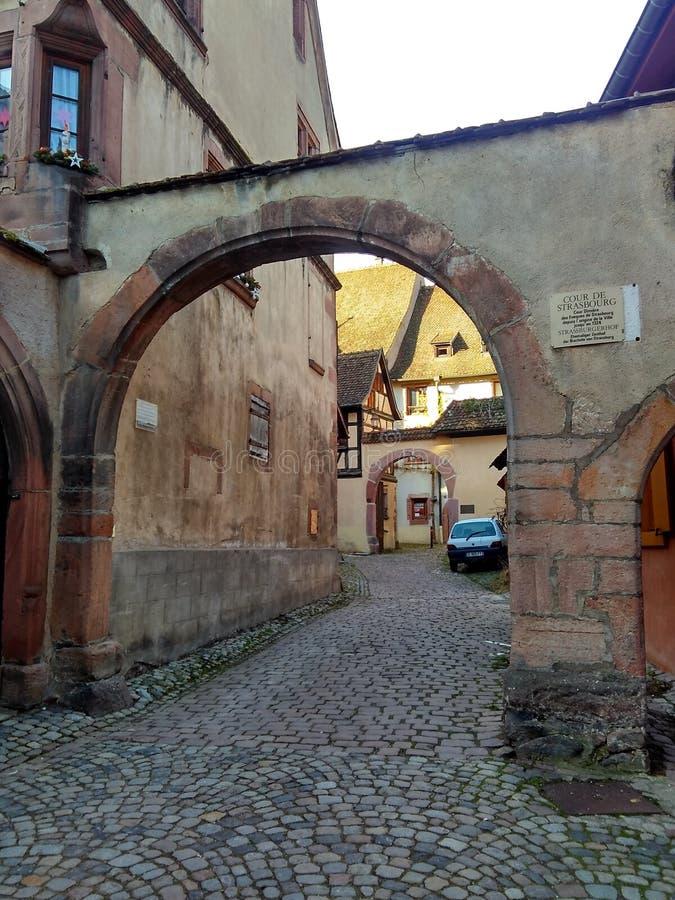 Casas coloridas tradicionais no La Petite France, Strasbourg, Alsácia, França fotos de stock