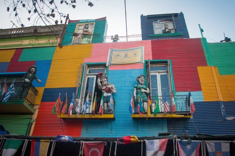 Casas coloridas vizinhança de Boca do La, Buenos Aires, Argentina fotografia de stock royalty free