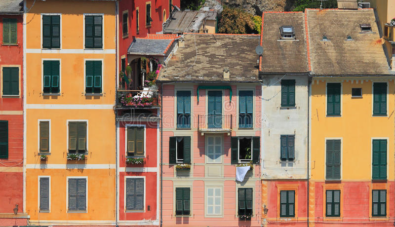 Casas coloridos de Portofino. imagem de stock royalty free