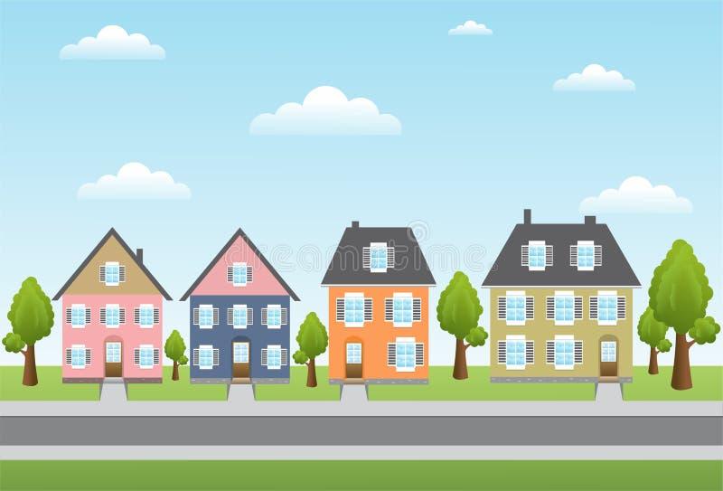 Casas da cidade ilustração royalty free