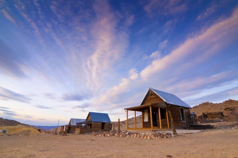 Casas da cidade fantasma de Nevada foto de stock