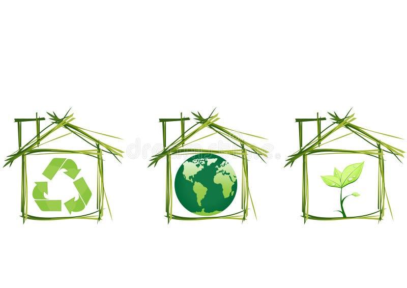 Casas da ecologia ilustração royalty free