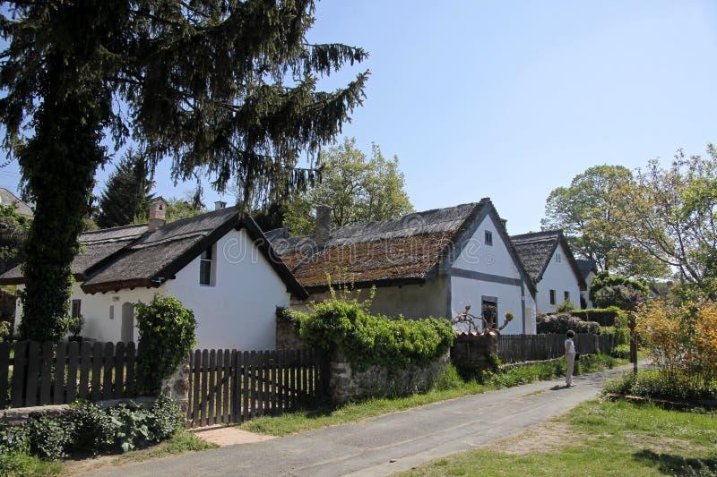 Casas da exploração agrícola no lago Balaton foto de stock royalty free