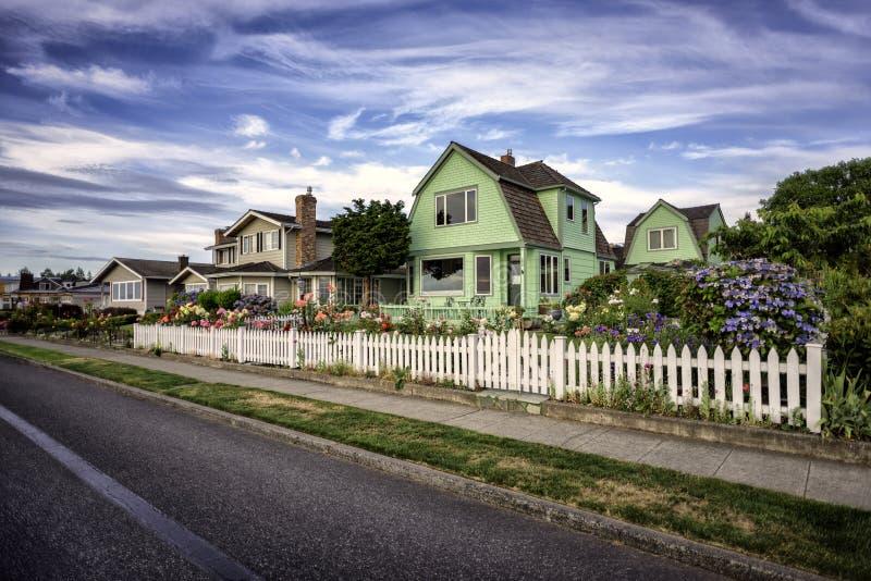 Casas da praia foto de stock royalty free