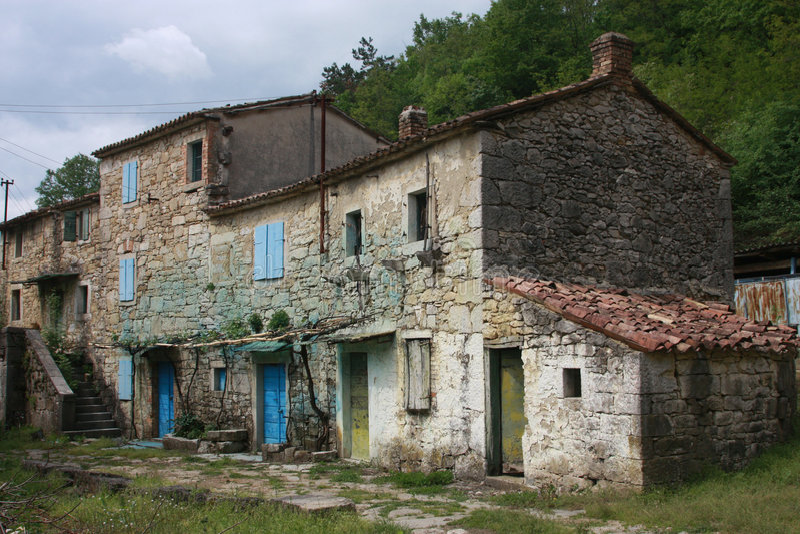 Casas de Abandonned imagen de archivo