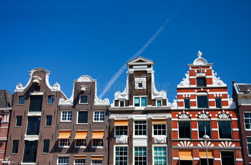 Casas de Amsterdão fotografia de stock