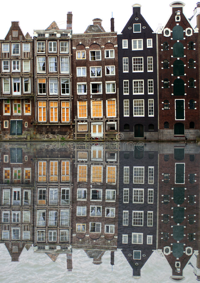 Casas de Amsterdam imagenes de archivo