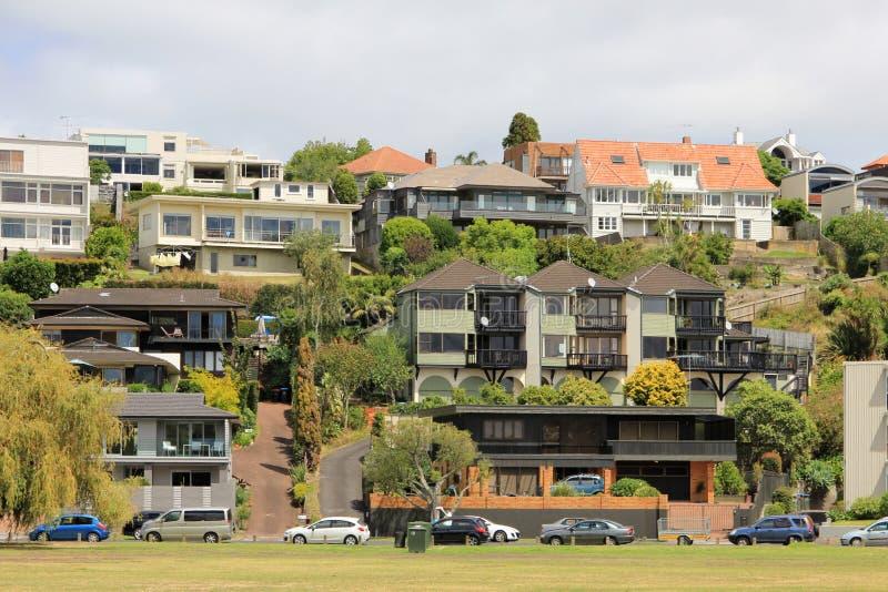 Casas de Auckland, Nova Zelândia imagens de stock royalty free