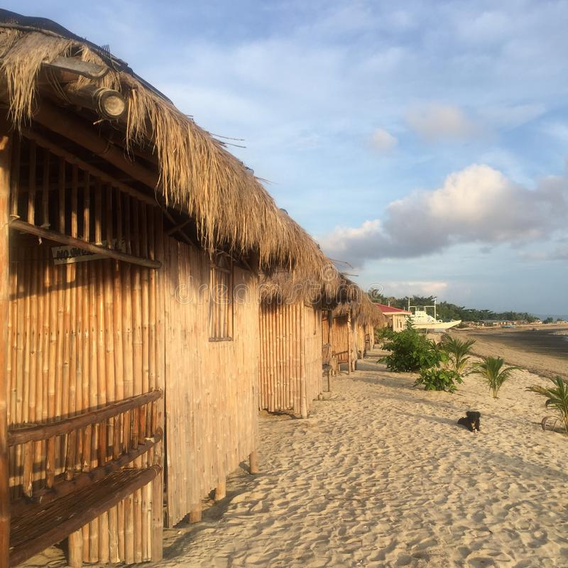 Casas de bambú fotos de archivo libres de regalías