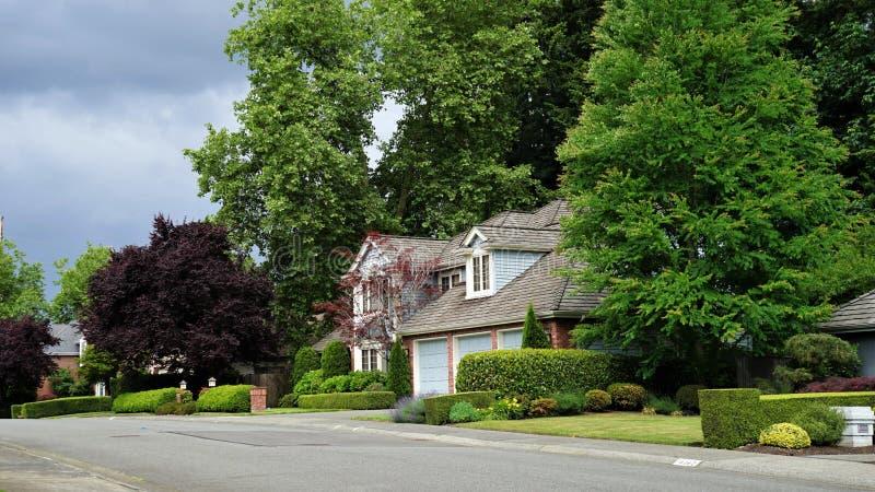 Casas de Bellevue en verano imagen de archivo libre de regalías