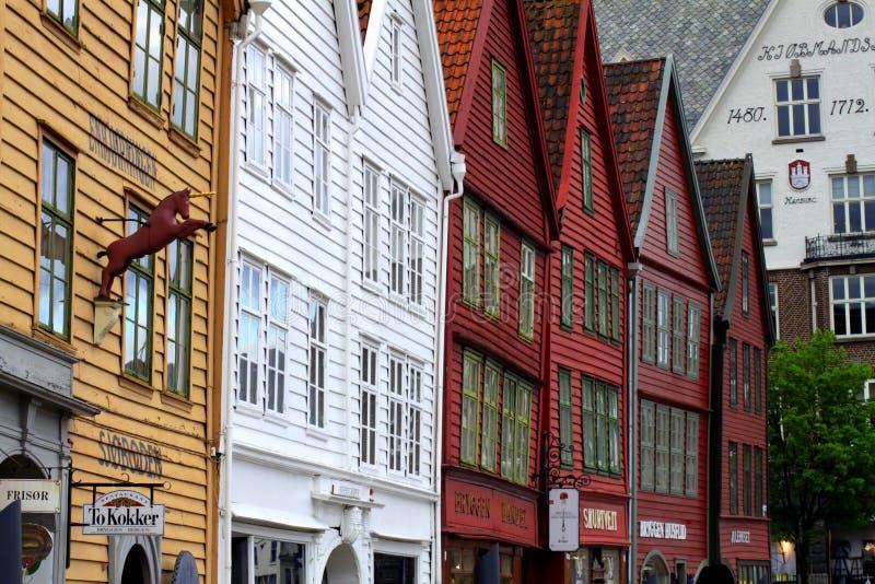 Casas de Bergen foto de stock royalty free