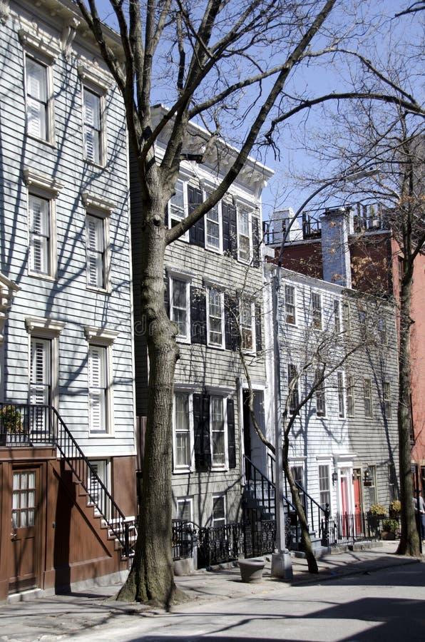Casas de Brooklyn fotos de stock royalty free
