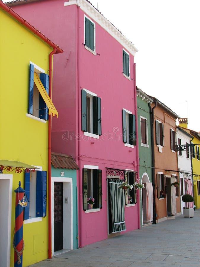 Casas de Burano foto de archivo libre de regalías