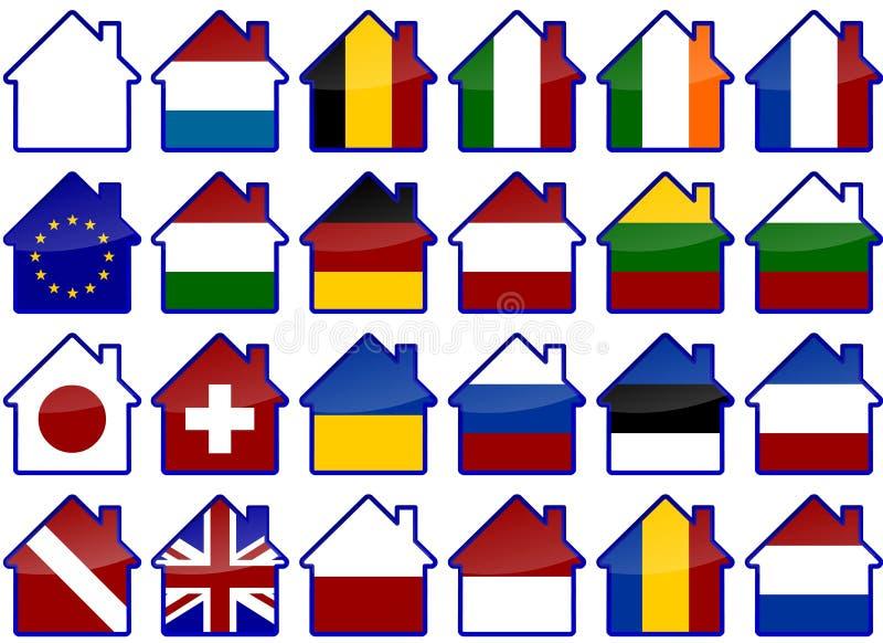 Casas de campo stock de ilustración