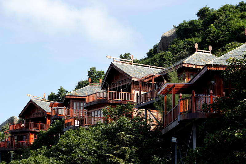 Casas de campo beira-mar imagem de stock