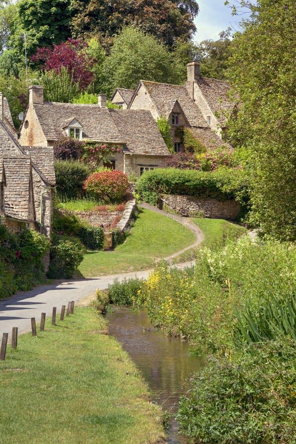 Casas de campo bonitas de Cotswold fotografia de stock