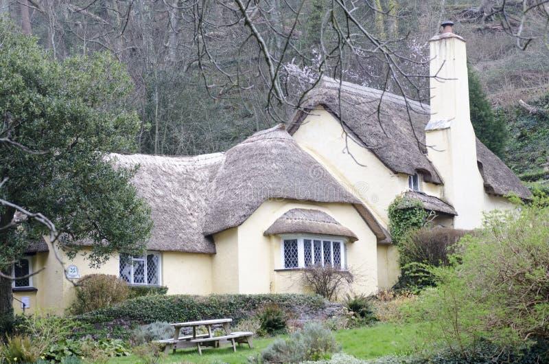 Casas de campo cobridas com sapê imagem de stock