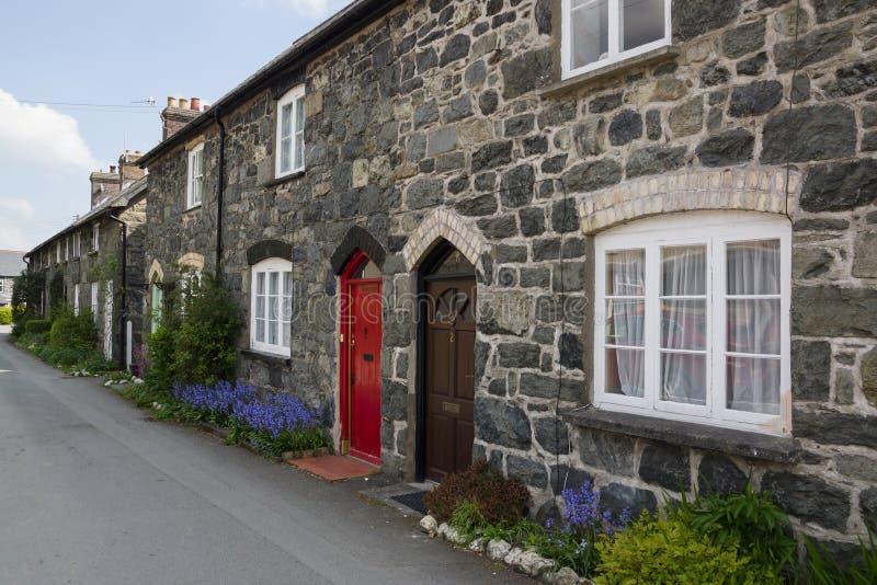 Casas de campo da pedra de Galês fotografia de stock royalty free