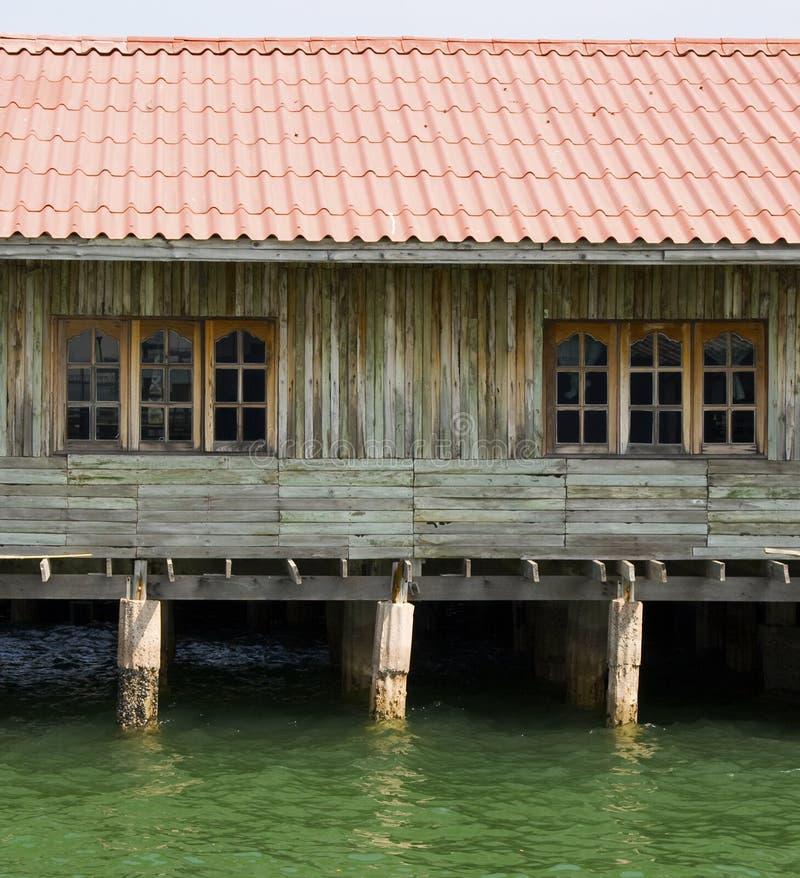 Casas de campo de madeira foto de stock
