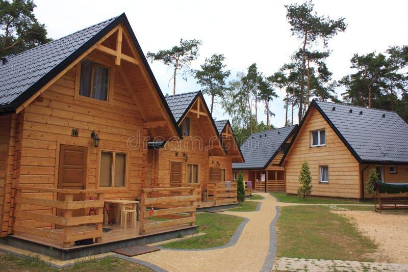 Casas de campo de madeira do feriado foto de stock royalty free