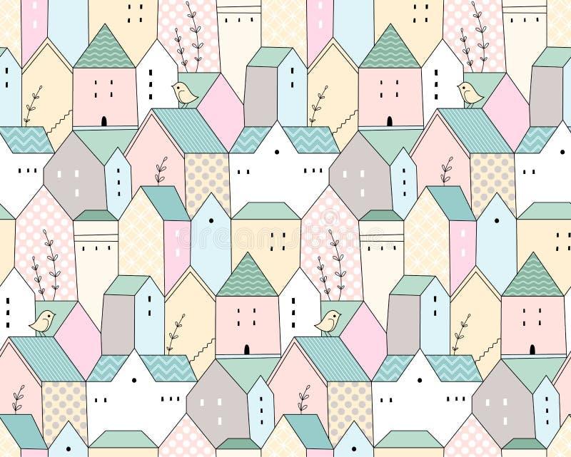 Casas de campo escandinavas libre illustration