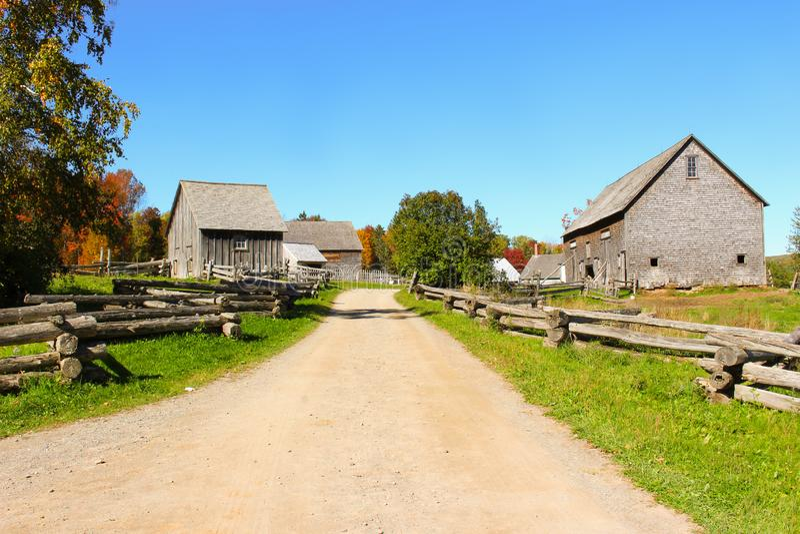 Casas de campo n Novo Brunswick, Canadá imagens de stock royalty free