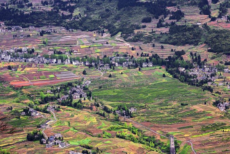 Casas de campo punteadas fotografía de archivo