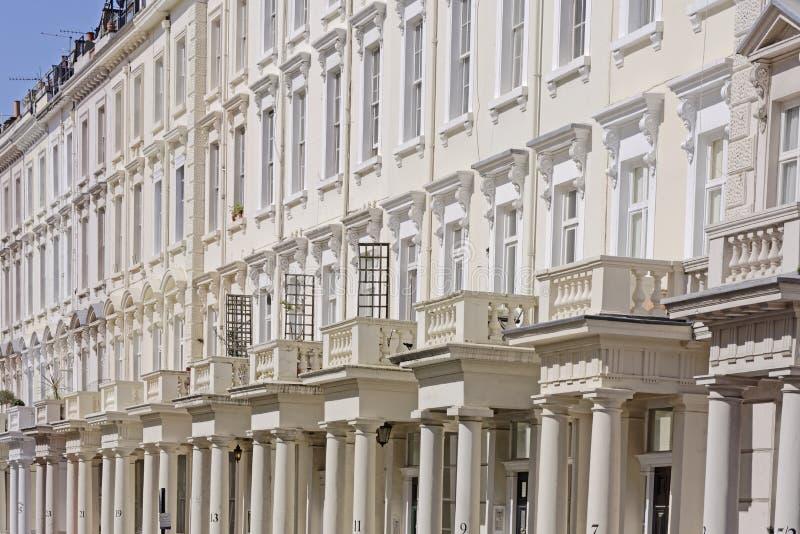 Casas de cidade terraced Georgian foto de stock royalty free