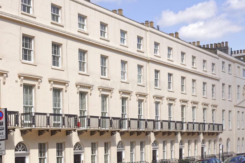 Casas de cidade terraced Georgian, Londres, Inglaterra imagem de stock