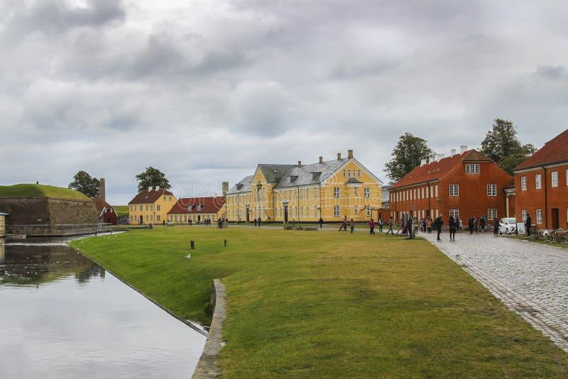 Casas de Coloful en Copenhague, Dinamarca fotos de archivo