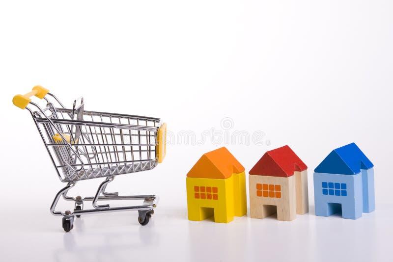 Casas de compra imagens de stock