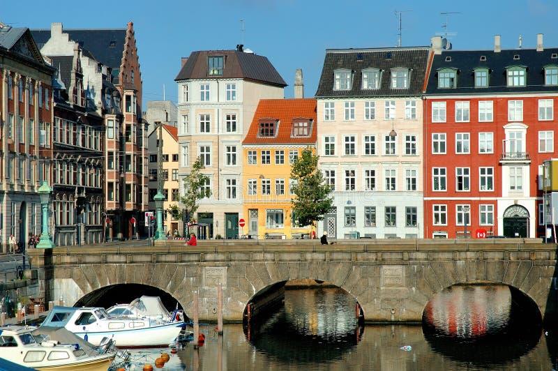 Casas de Copenhaga imagens de stock royalty free
