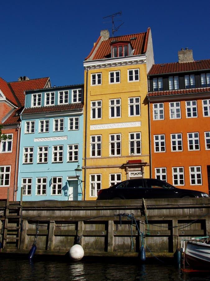 Casas de Copenhague, Dinamarca fotografía de archivo libre de regalías