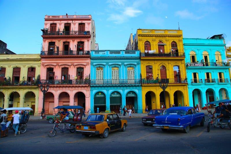 Casas de Cuba imagen de archivo