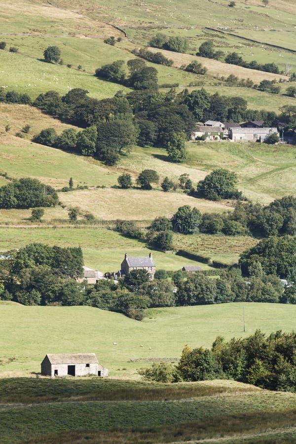 Casas de Derbyshire en campo fotografía de archivo