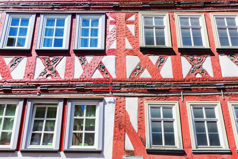 Casas de entramado de madera en Herborn, Alemania foto de archivo libre de regalías