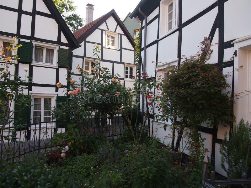 Casas de entramado de madera tradicionales en Alemania fotografía de archivo libre de regalías