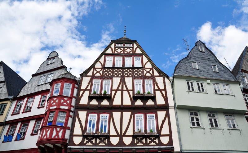 Casas de entramado de madera tradicionales en Limburgo, Alemania fotografía de archivo libre de regalías