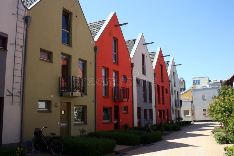 Casas de fila escandinavas fotos de archivo libres de regalías
